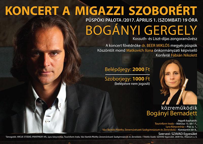 Április 1. – Bogányi Gergely jótékonysági koncert