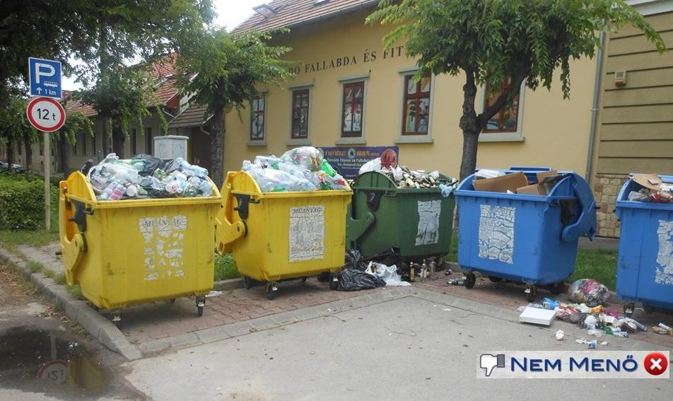 Megtelt szelektív hulladék gyüjtők – Nem menő